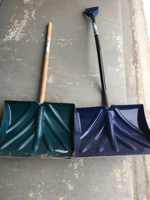 Snow Shovels: both for $15