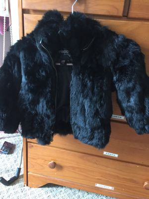 Girls's genuine fur coat