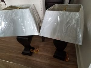 2 Brown (cherrywood) lamps