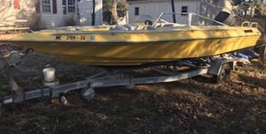 Boat for sale .. fixer upper . Comes with trailer Clean title . $2,000