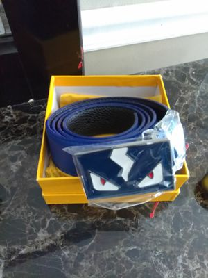 Blue Fendi belt