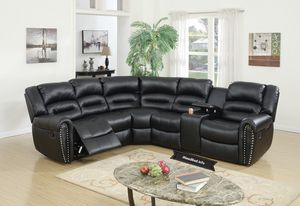 Dark Leather Reclining Selectional set.. $1,599.99 or as low as $57.24 per week... please visit (iNeedBed. info) for more details