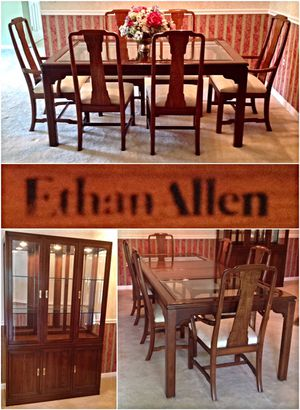 Ethan Allen Canova Collection Solid Cherry Dining Room Set