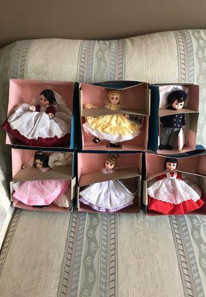 "Madame Alexander Dolls Little Women Marmee, Jo, Meg, Beth, Amy, and Laurie Little Men 8"" 1974- 1981 new in box"