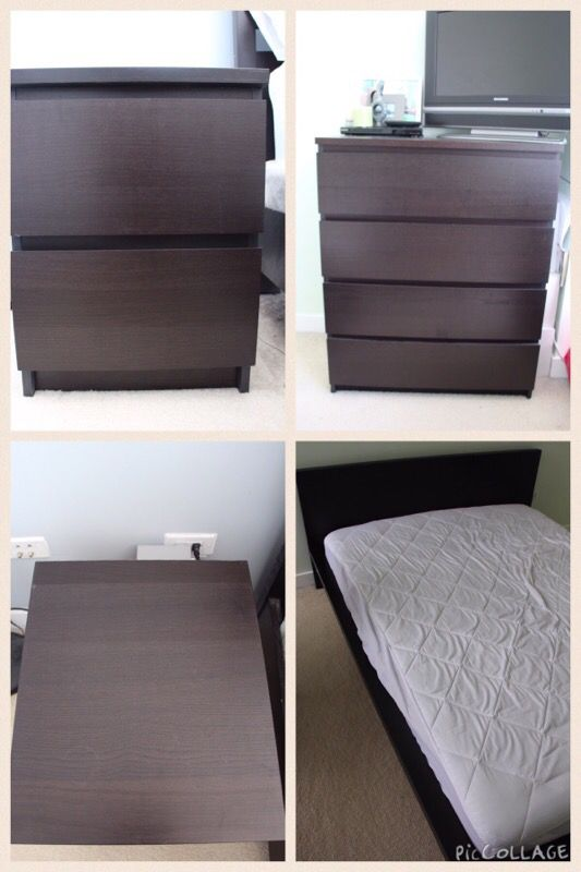 MOVING SALE! IKEA Malm bedroom set!! (Furniture) in Chicago, IL