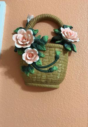 Handmade ceramic wall basket