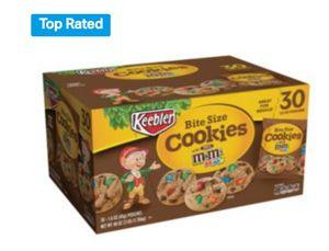 Keebler M&M cookies 1.6 oz, 30ct