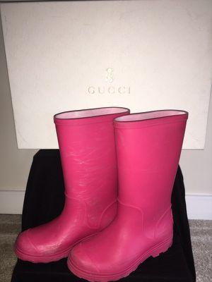 Girls Gucci Rain Boots