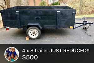4x8 Trailer with spare tire and Title
