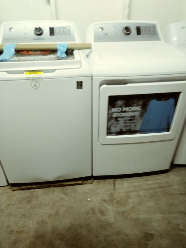 BRANDNEW BEAUTIFUL GE PROFILE SUPER CAPACITY WASHER DRYER SET WITH