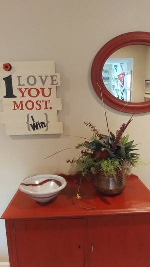 """""""i Love You Most"""" Hand Painted Wall Art"""