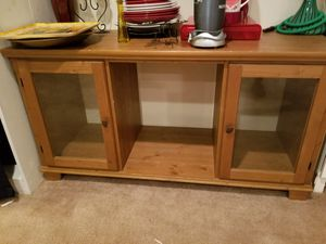 2 Door wood cabinet with open back