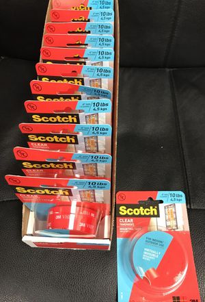 Scotch Brand Two Sided Clear Tape (19 unopened Rolls) only $40.00 for All!