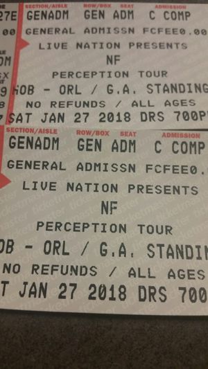 NF PERCEPTION TOUR TICKETS