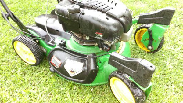 john deere push lawn mowers. lawn mower - john deere js63c (engine serviced) push mowers