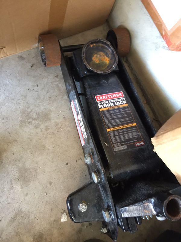 Craftsman Car 3 Ton Floor Jack Broken Tools Machinery In Alsip