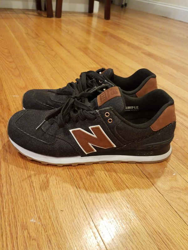 new balance 574 blue brown