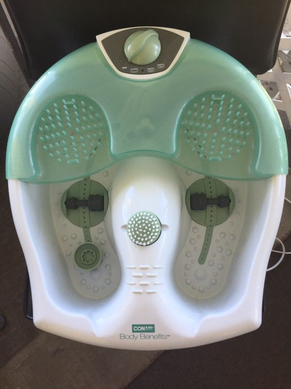 Conair FB12 Foot Spa w/Water Jet, White & Green (Beauty & Health) in ...