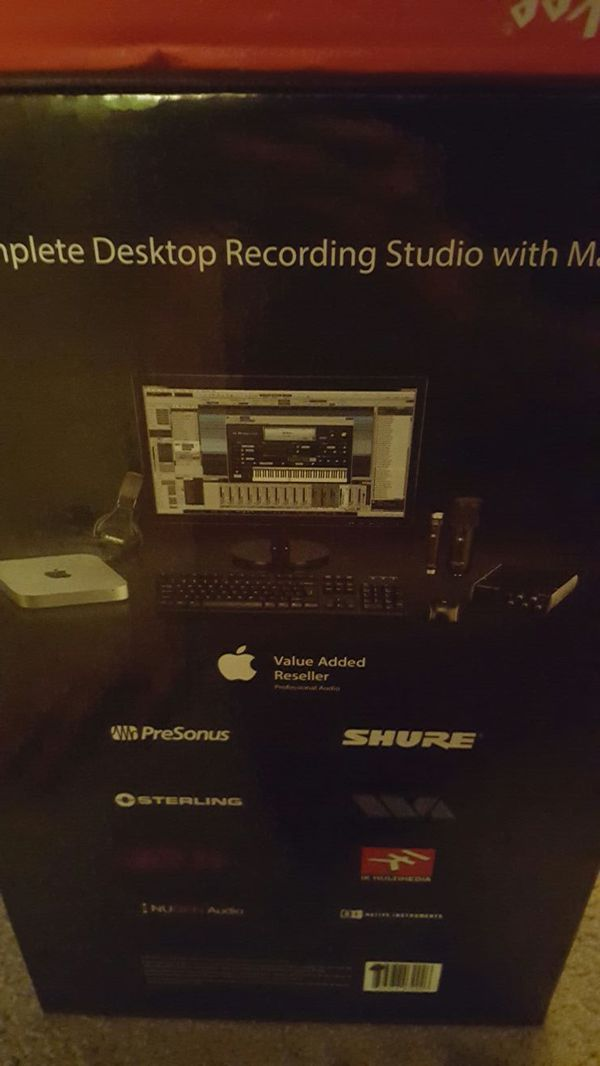 the complete desktop recording studio with mac mini audio equipment in us offerup. Black Bedroom Furniture Sets. Home Design Ideas