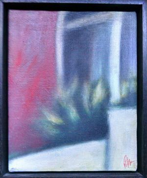 Window Plant Painting by Rick Monzon 1993