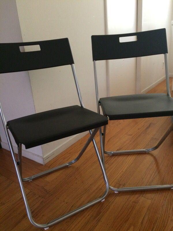 Ikea Gunde Folding Chairs Furniture In Menlo Park Ca