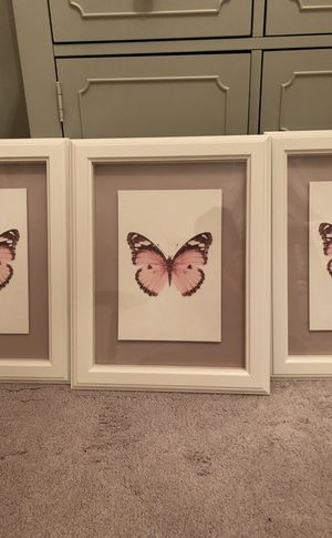 Set of 4 ikea butterfly frames
