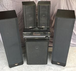 Black home theatre sound system