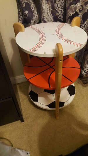 Football shaped stool very good condition