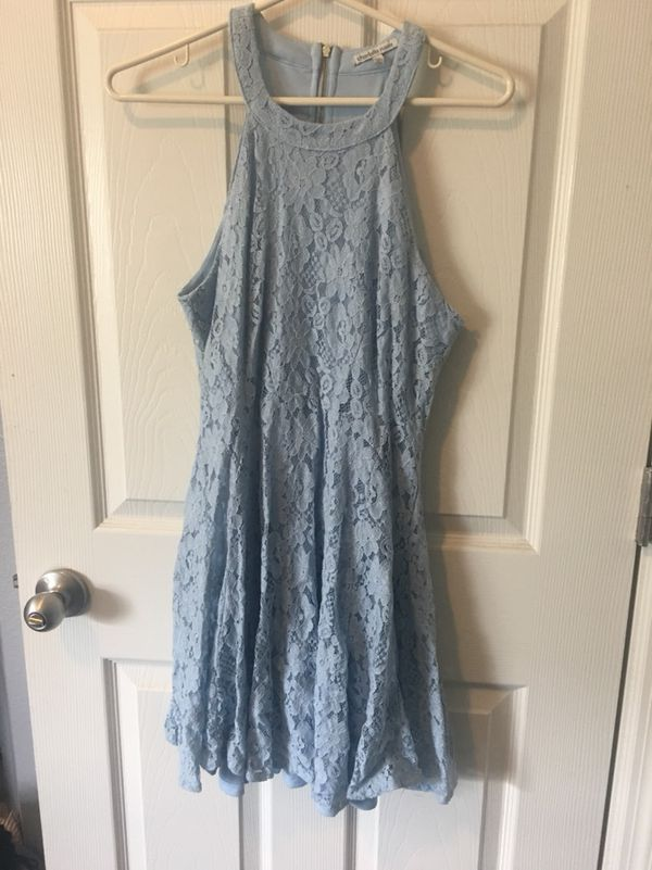 Blue Charlotte Russe Medium Dress Lace Clothing Shoes In