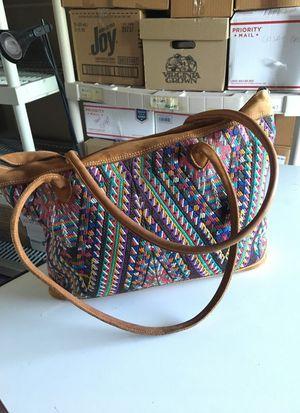 Guatemalan hand stitched large purse
