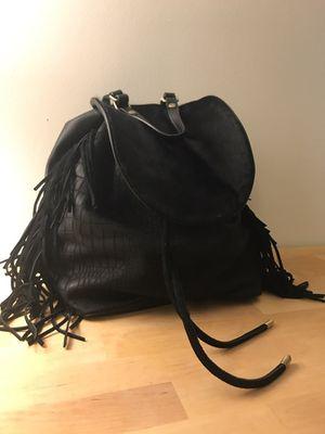 Sam Edelman black leather backpack