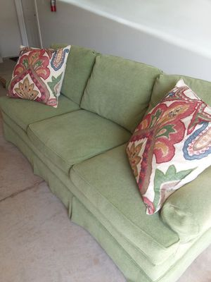 Hickory chair in NC, Guthrey Collection couch.