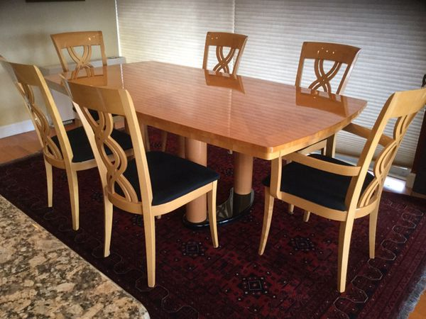 Italian Made Excelsior Dining Table Chairs