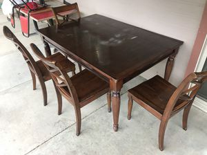 Dining Table 4 Chairs Wood