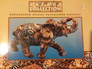 Endangers species patchwork animals