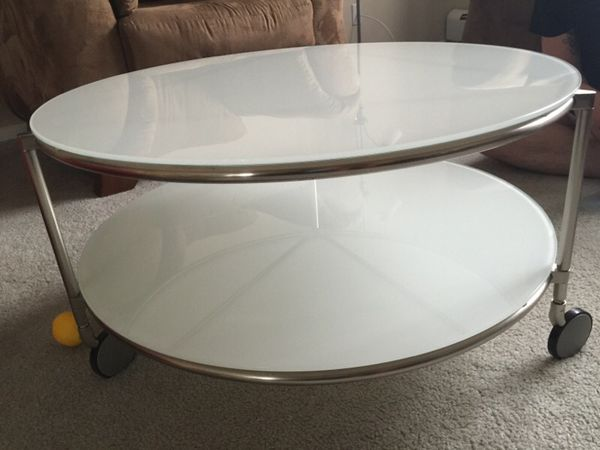 Ikea glass coffee table furniture in streamwood il for Ikea table 100 x 60