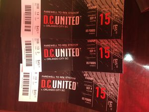 I have 3 tickets for d.c UNITED