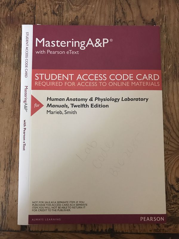 Awesome Buy Mastering Anatomy And Physiology Access Code Pattern ...