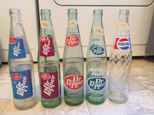 1970s-1980s Dr.Pepper and Pepsi bottles