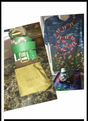 Green Gucci snake and shirt size large