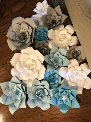 15 paper flowers