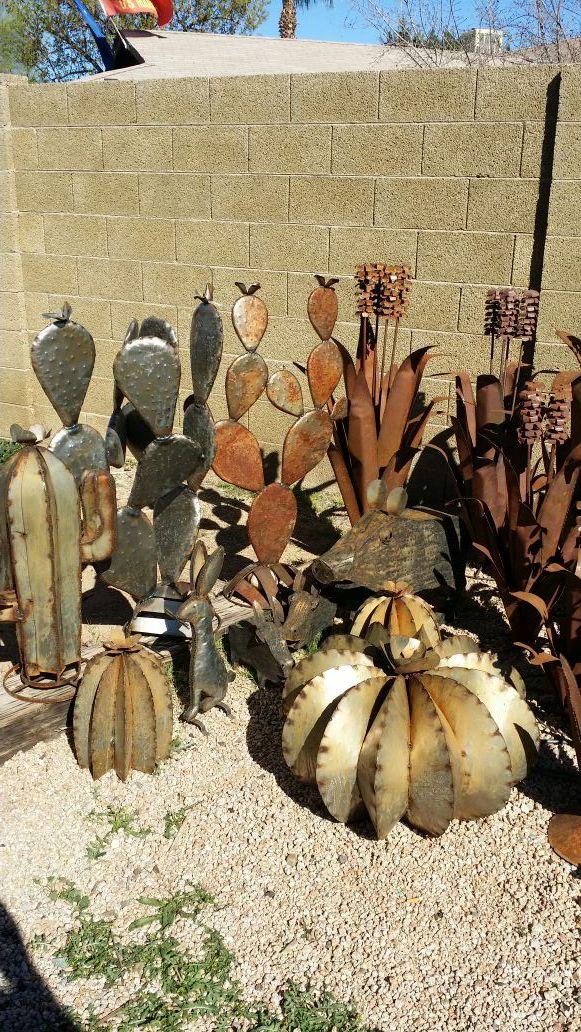Variety Of Metal Cactus Yard Art Home Amp Garden In