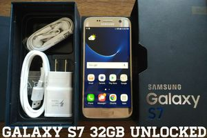Galaxy S7 32GB UNLOCKED (Like New) Gold Platinum