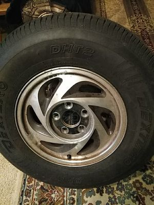 New tires on Chevy rims