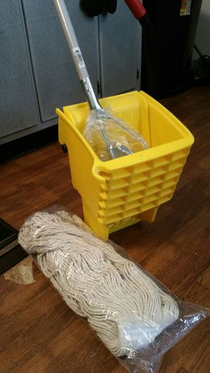 NEW!!!! INDUSTRIAL MOP, HEAD AND WRINGER