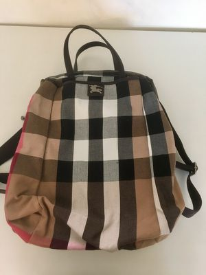 Never used plaid backpack.