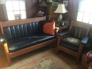 Antique Love Seat & Rocking Chair it's like Stickley