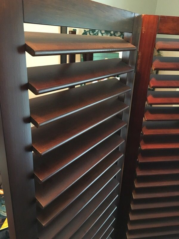Pier One Heavy Wood Room Divider Shutter Type That Open