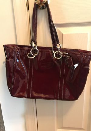 Authentic Coach Purse Shiny Red Leather