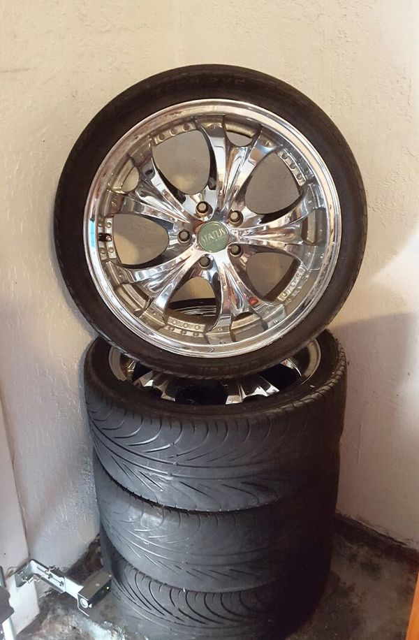 4 18 Quot Status Chrome Wheels 5 Lugs Bolt Pattern Auto